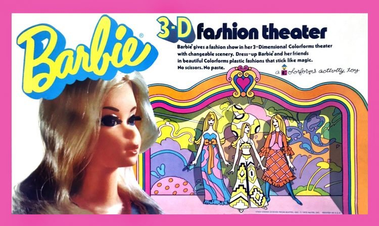 Vintage Colorforms toy - Barbie 3D Fashion Theater