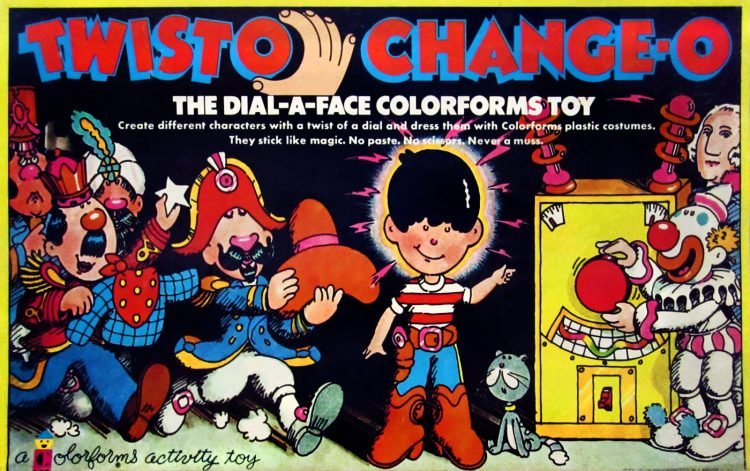 Vintage Colorforms toy - Twisto Change-o