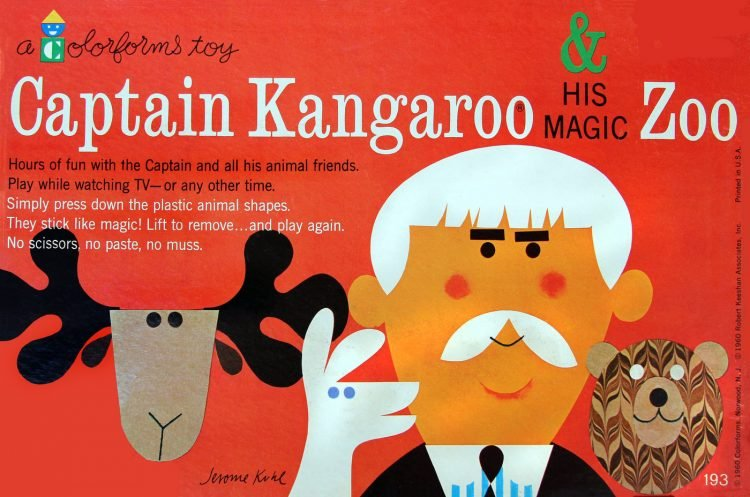 Vintage Colorforms toy - Captain Kangaroo and His Magic Zoo