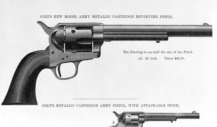 1878 Colt revolver, side view - Gun