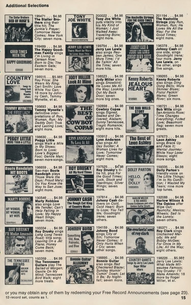 Vintage Columbia Record Club magazine with offers - 1971-013
