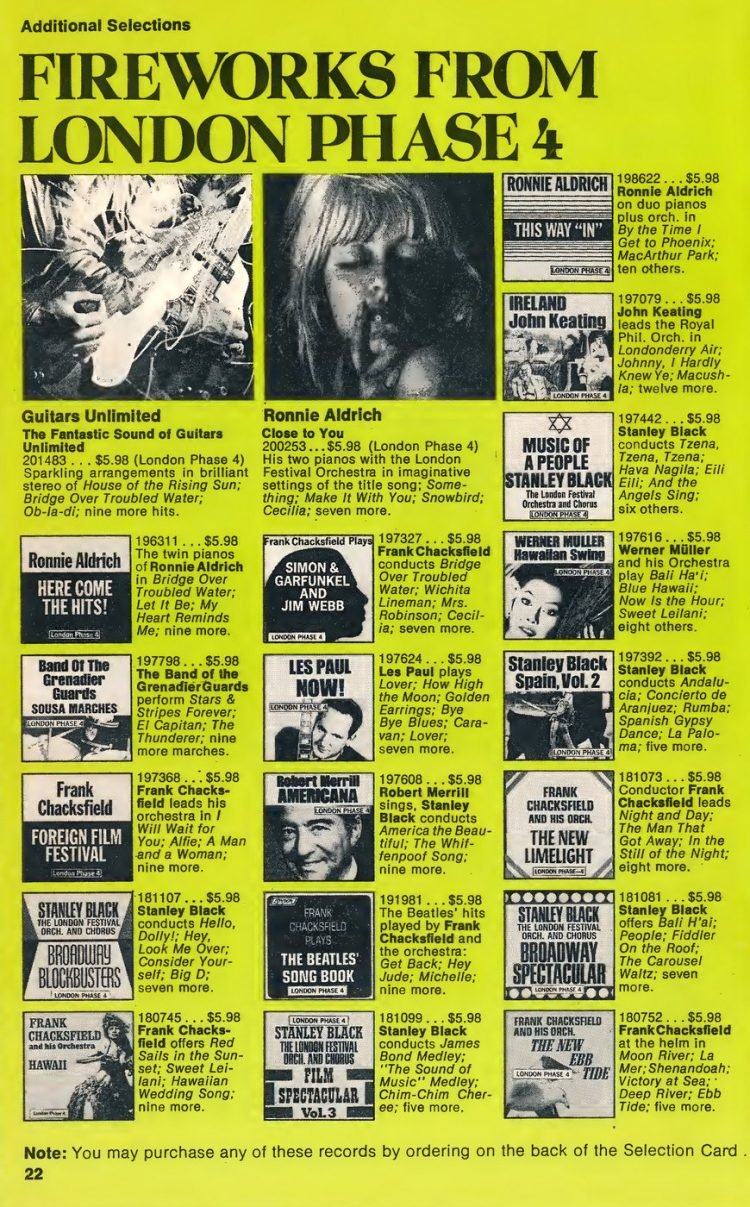 Vintage Columbia Record Club magazine with offers - 1971-16