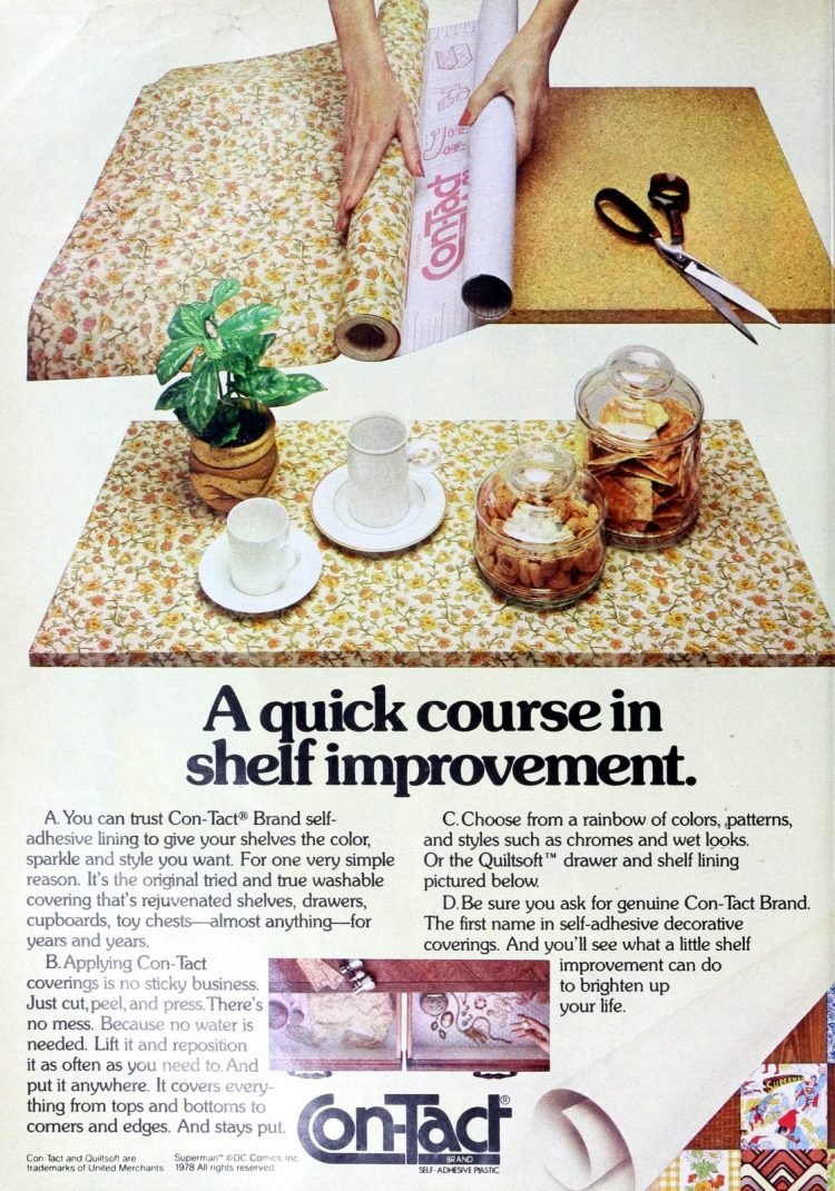 Vintage Con-Tact shelf paper from the 70s