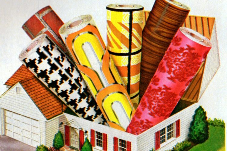 Vintage Con-Tact vinyl and Rubbermaid shelf liners Popular adhesive plastic patterns