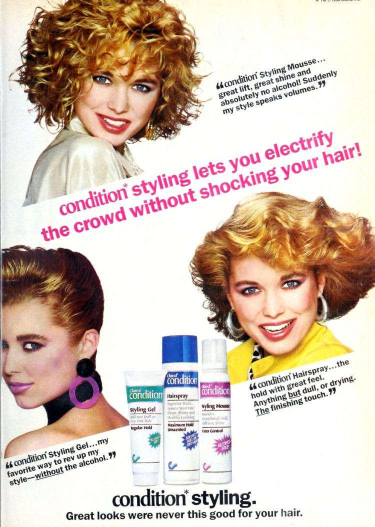 Vintage Condition styling products from 1988