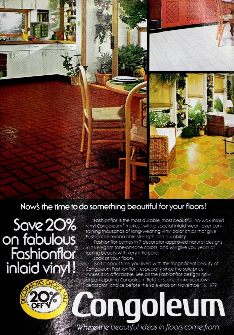 Vintage Congoleum vinyl flooring from 70s and 80s - From ClickAmericana com (1)