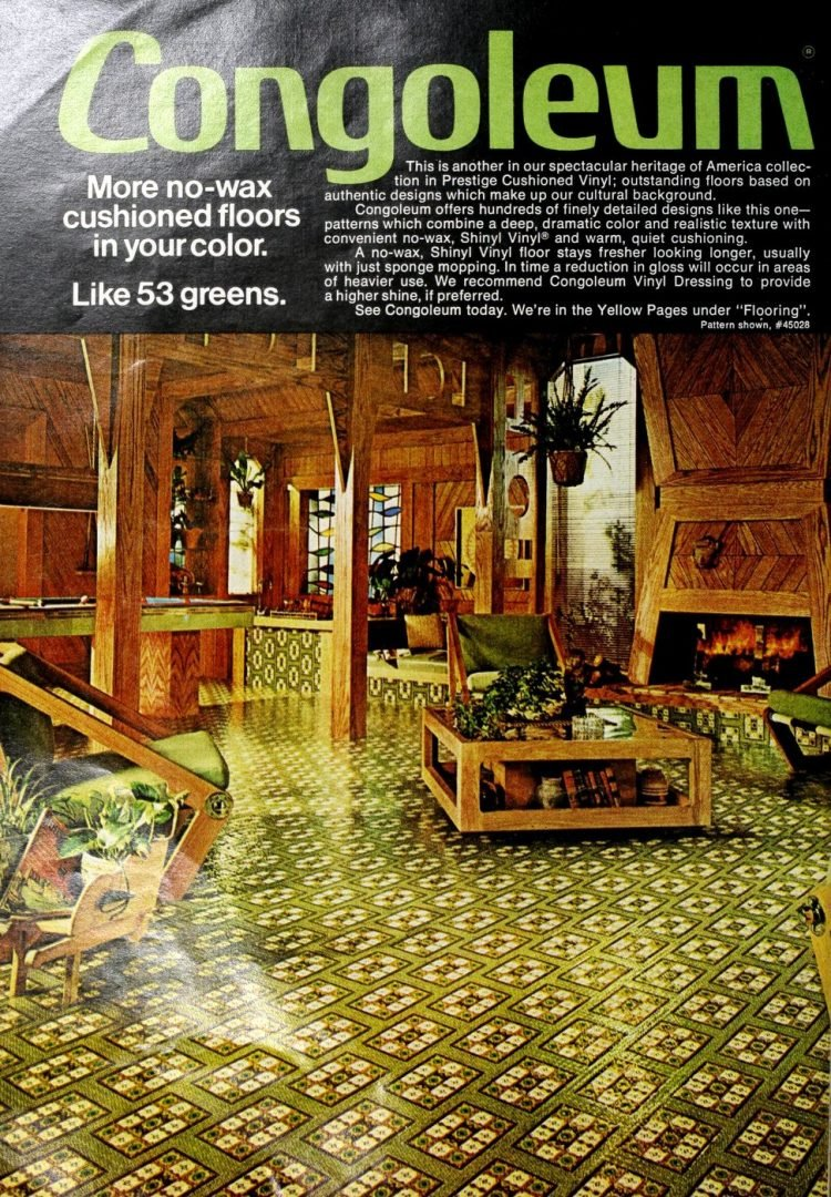 Vintage Congoleum vinyl flooring from 70s and 80s - From ClickAmericana com (3)