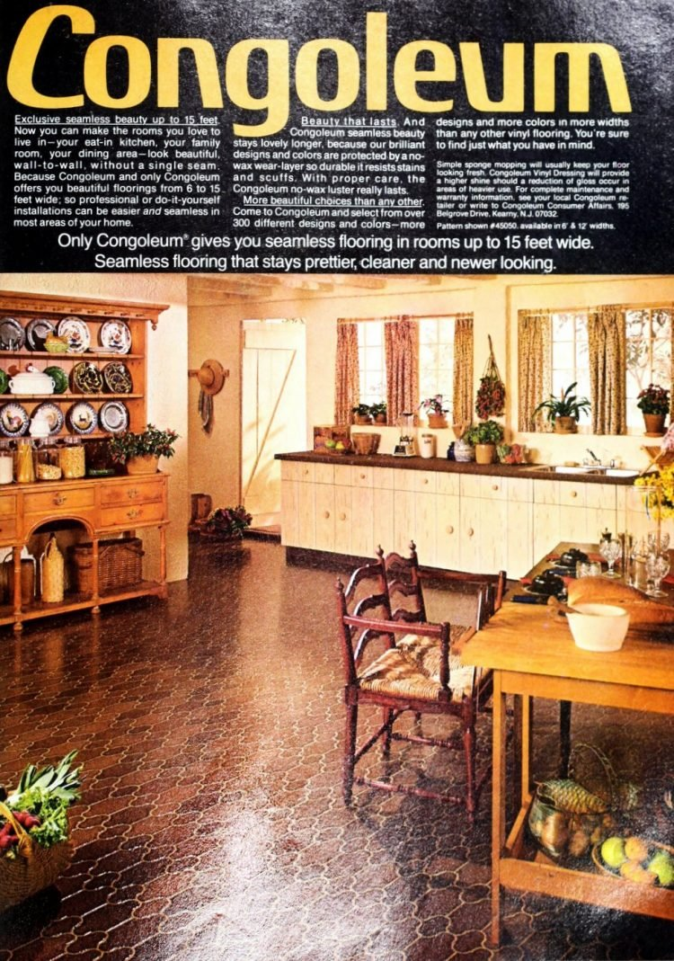 Vintage Congoleum vinyl flooring from 70s and 80s - From ClickAmericana com (5)