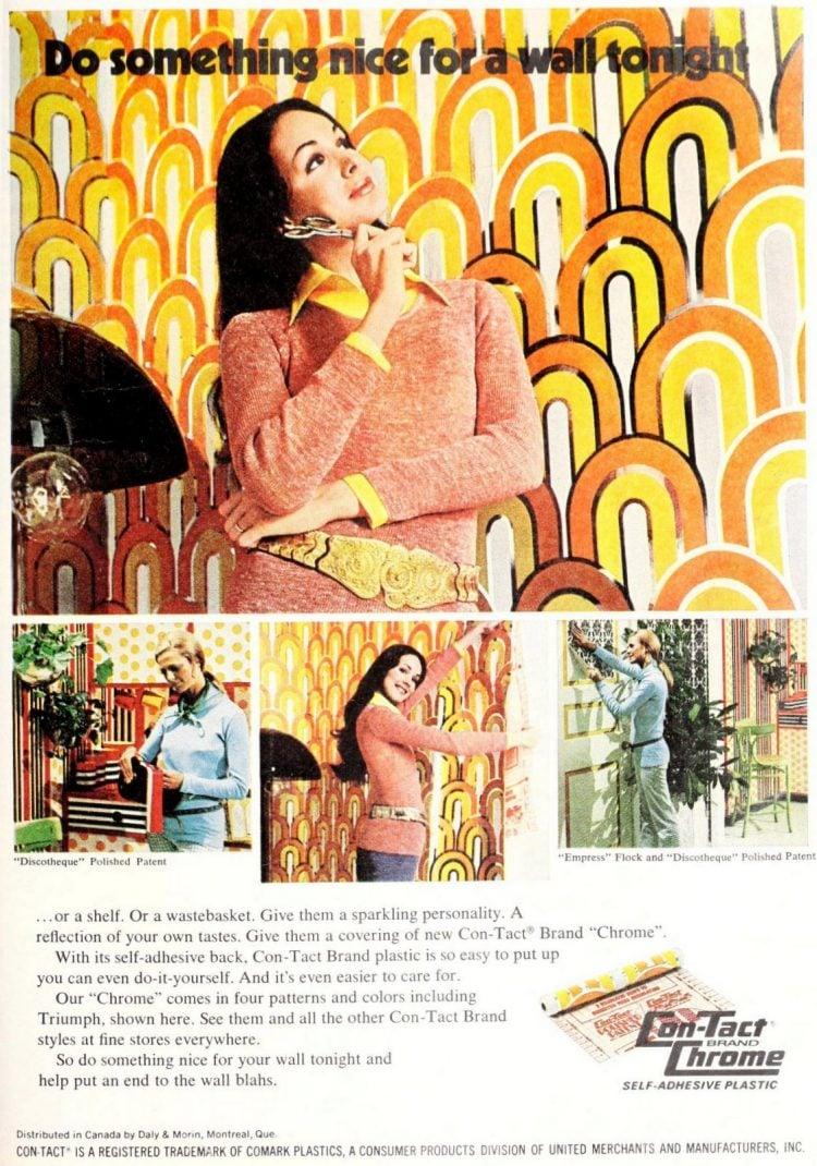 Vintage Contact adhesive wallpaper 1970s