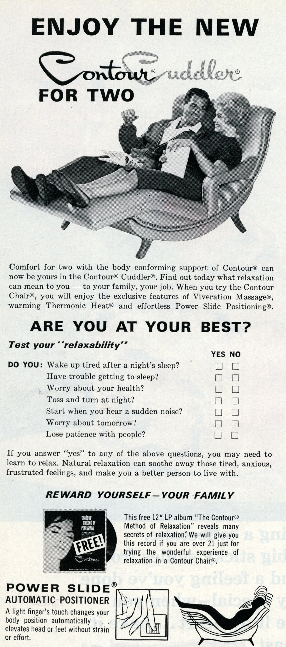 Vintage Contour Cuddler chair for two (1965)