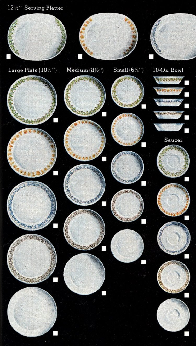 Vintage Corning Corelle dish sets from 1978 (3)