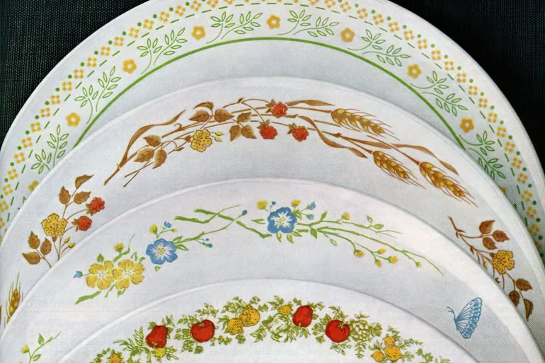 Vintage Corning Corelle dishes from the 70s-80s