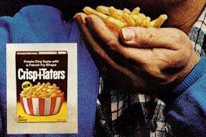 Vintage Crisp-i-Taters French-fry shaped potato chips (1971)