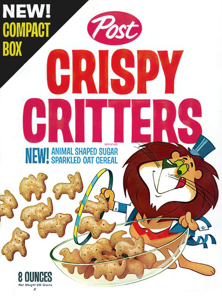 Vintage Crispy Critters box from the 1960s
