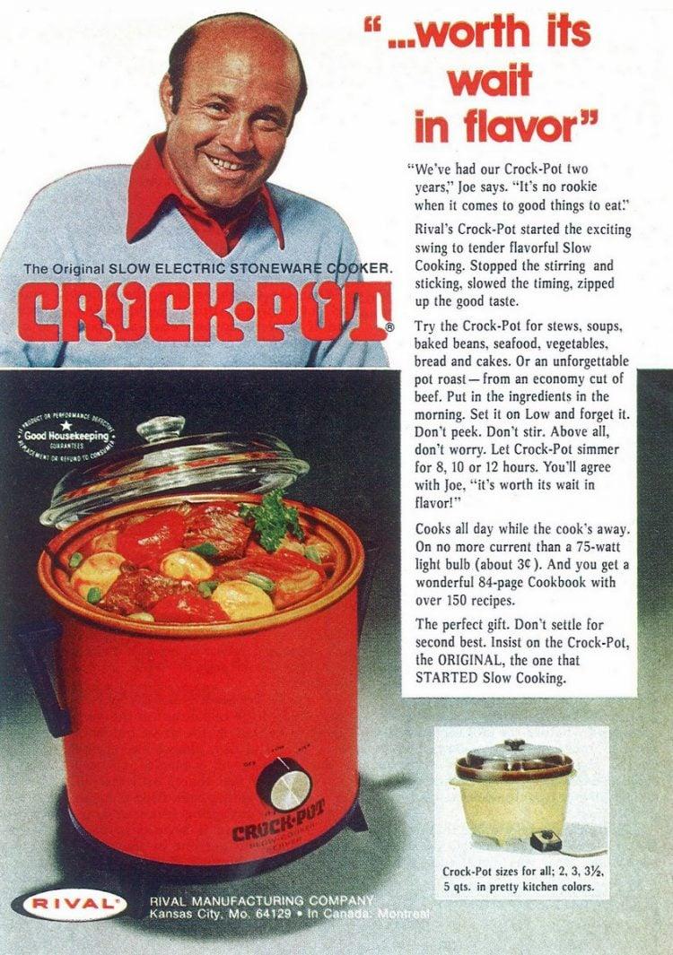 Vintage Crock Pot ad from 1975