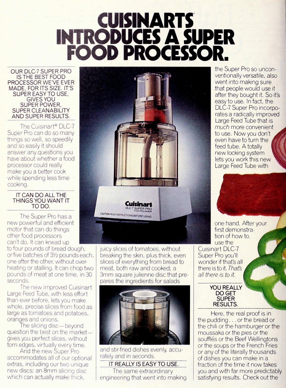 Vintage Cuisinart DLC-7 Super Pro (1984)
