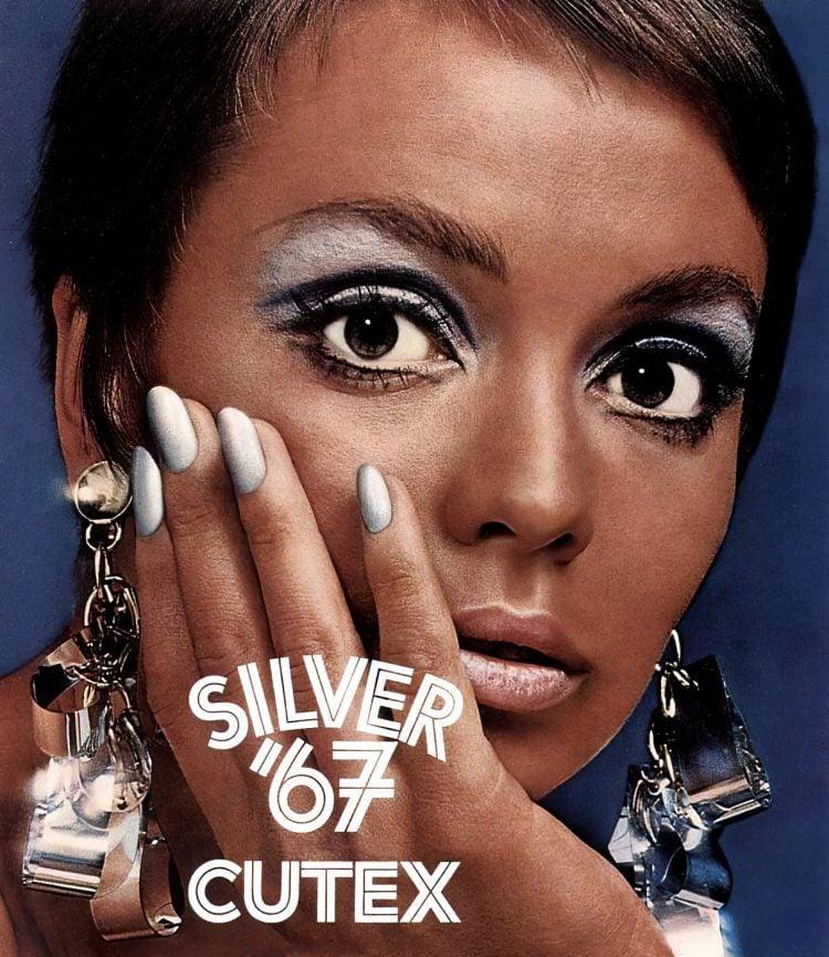 Vintage Cutex Silver 67 nail polish