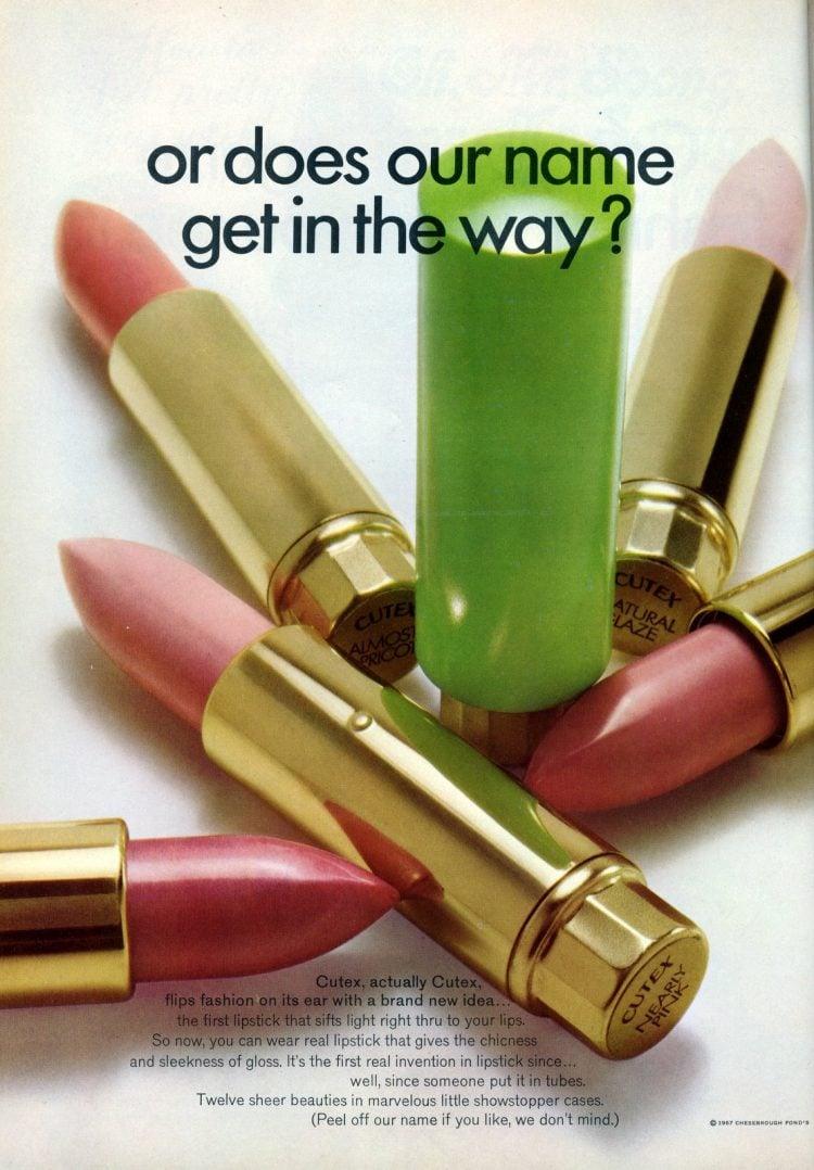 Vintage Cutex lipsticks from 1967 (2)