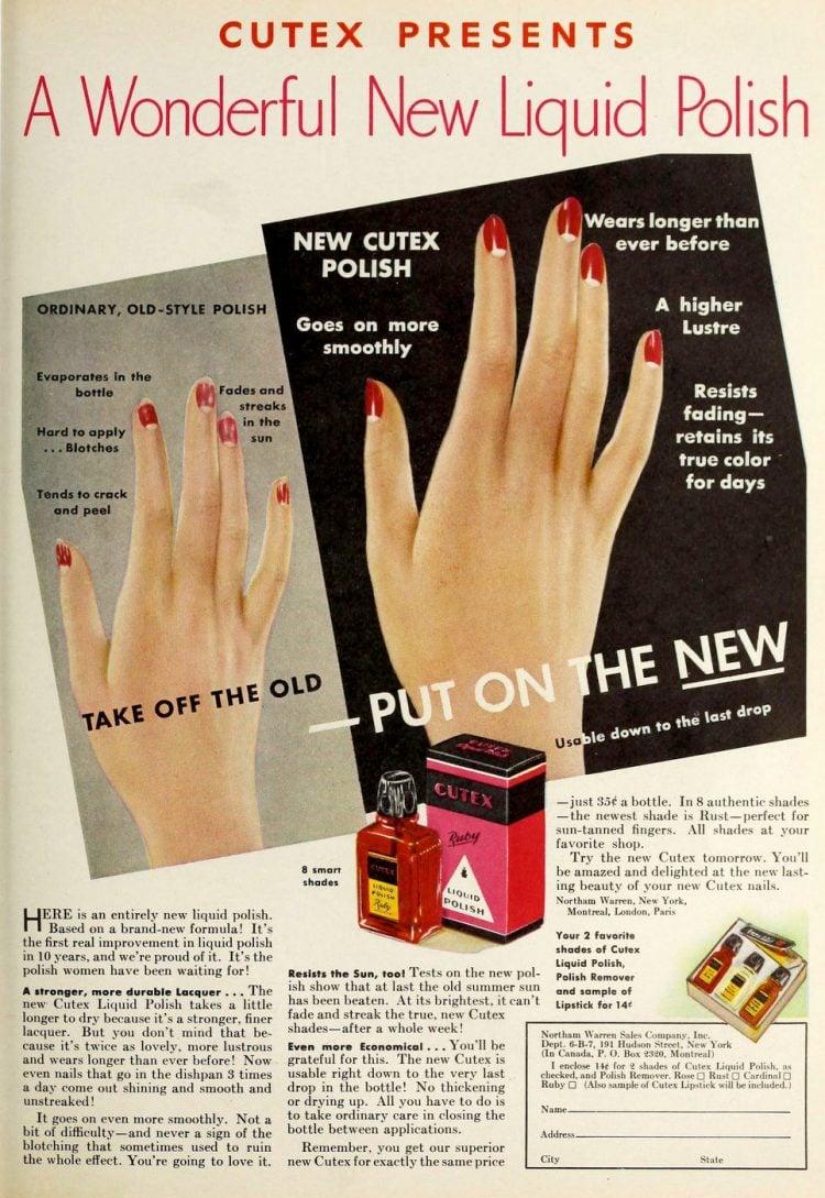 Vintage Cutex nail polish - 1930s