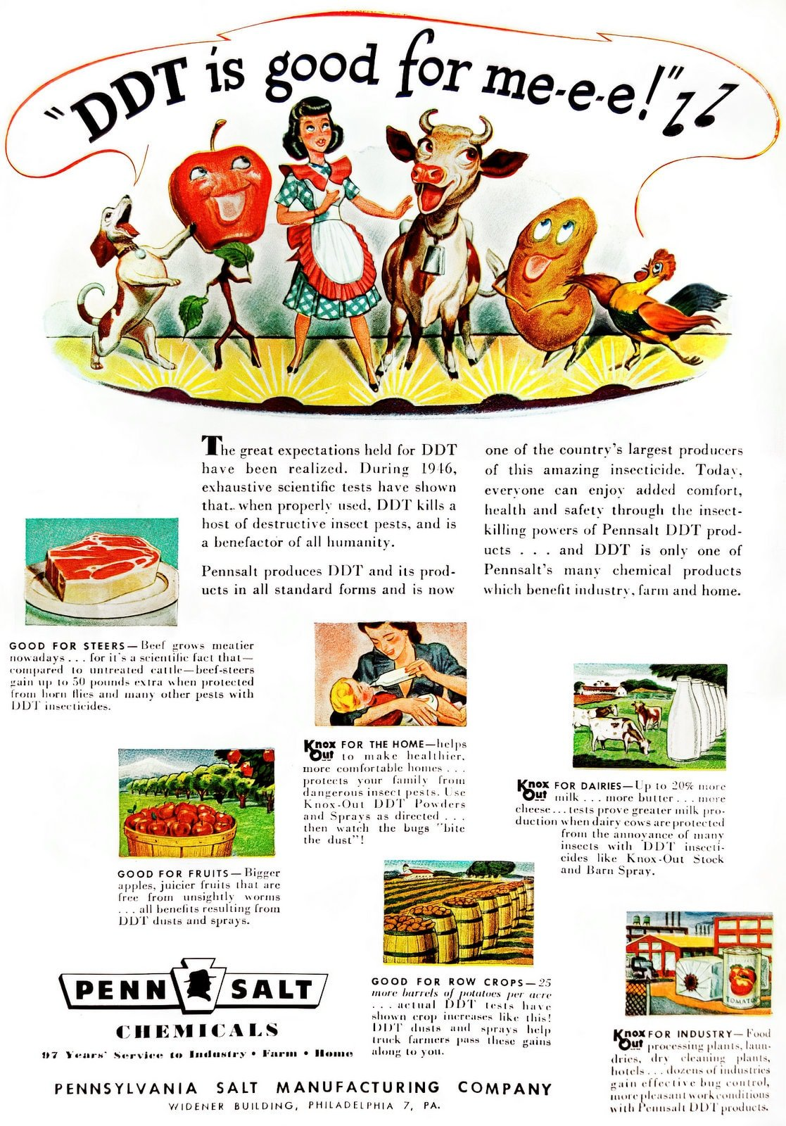 Vintage DDT is good for me-e-e ad (1947)