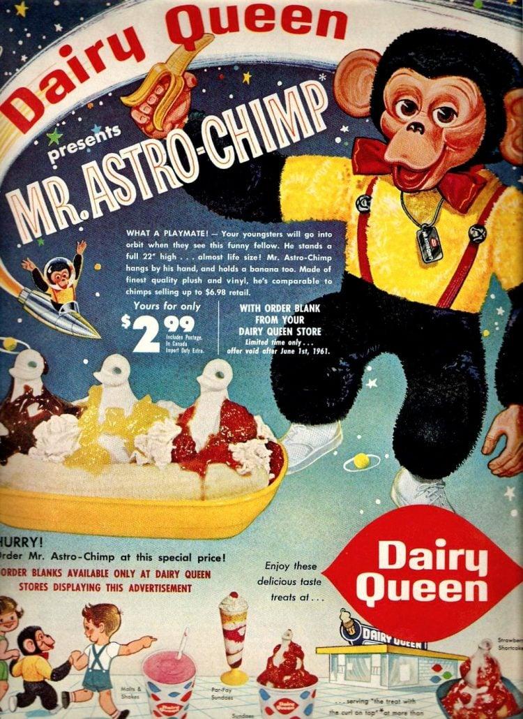 Vintage Dairy Queen Astro Chimp toy