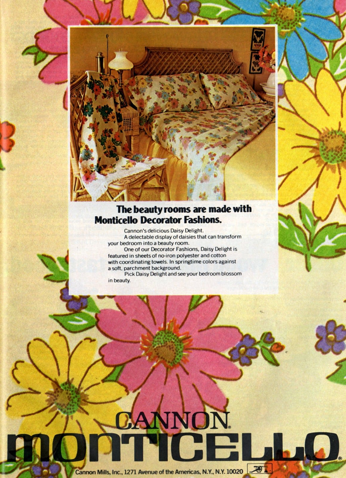 Vintage Daisy Delight sheet set from Cannon Monticello (1974)