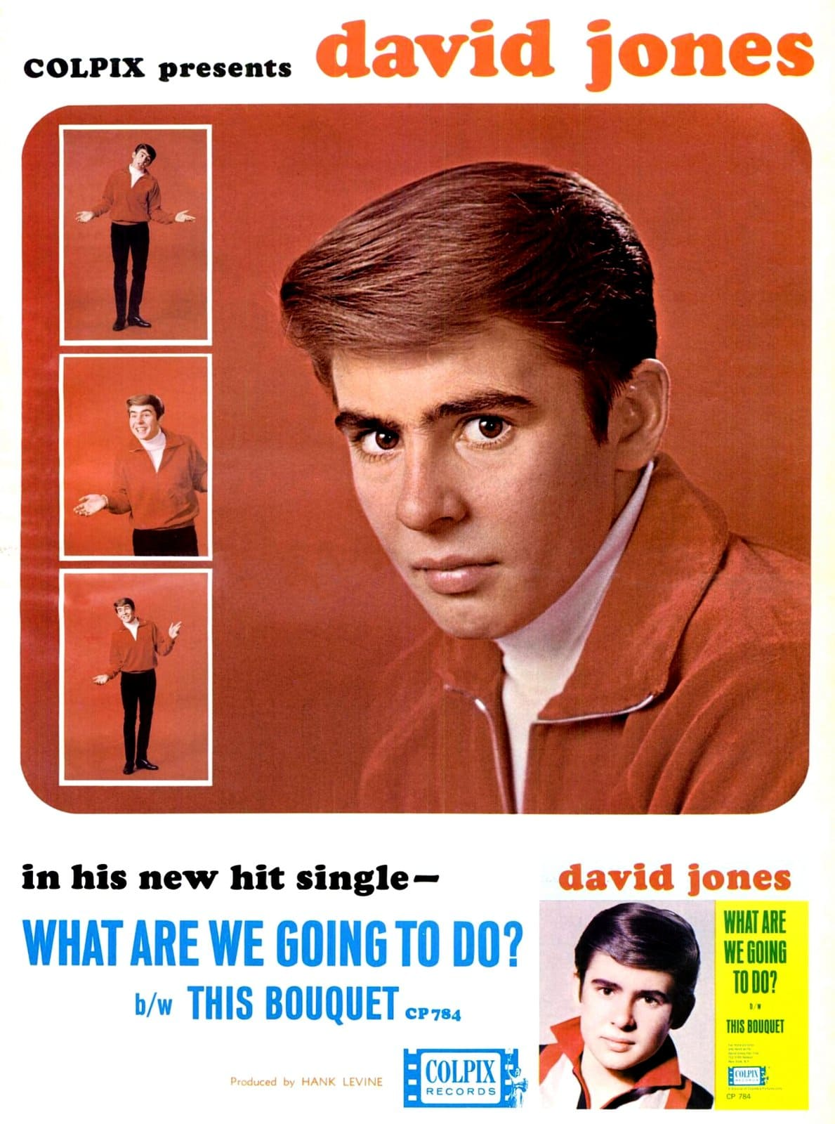 Vintage David Jones ad 1965 - Davy from the Monkees