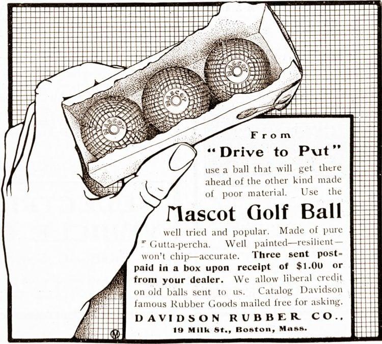 Vintage Davidson Mascot Golf Ball - 1900s