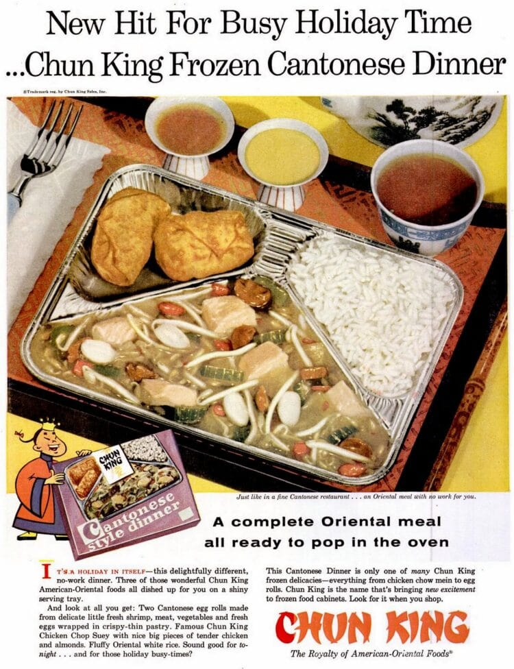 Vintage Dec 16, 1957 Chun King Chinese food TV dinner