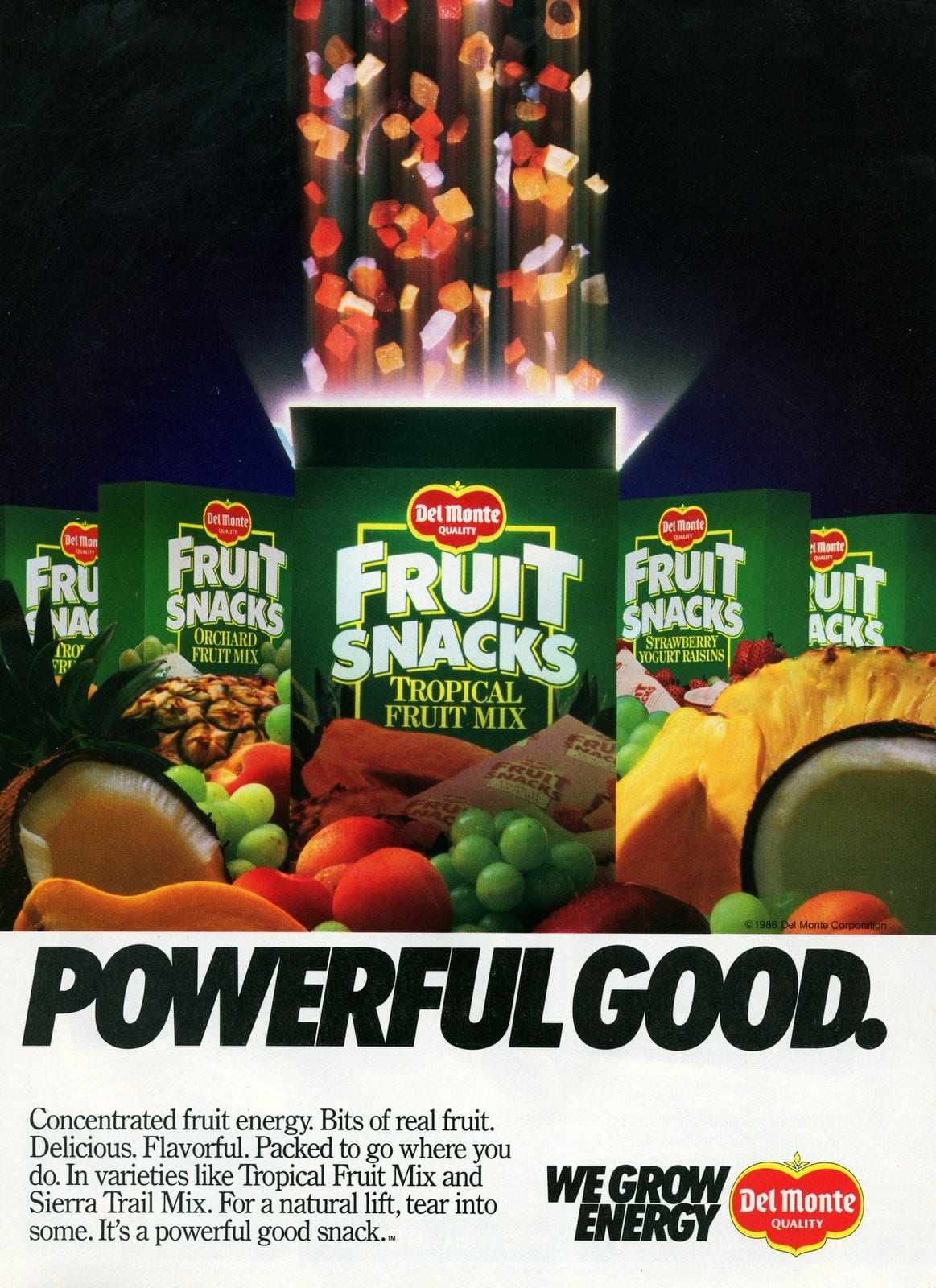 Vintage Del Monte 1980s fruit snacks (1987)
