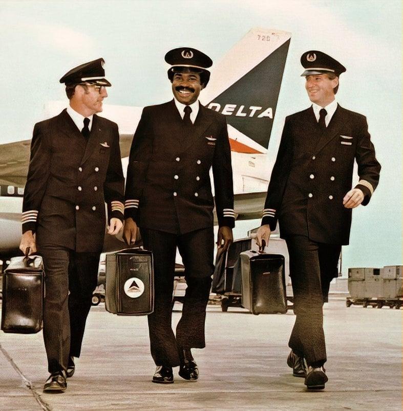 Vintage Delta pilots (1979)