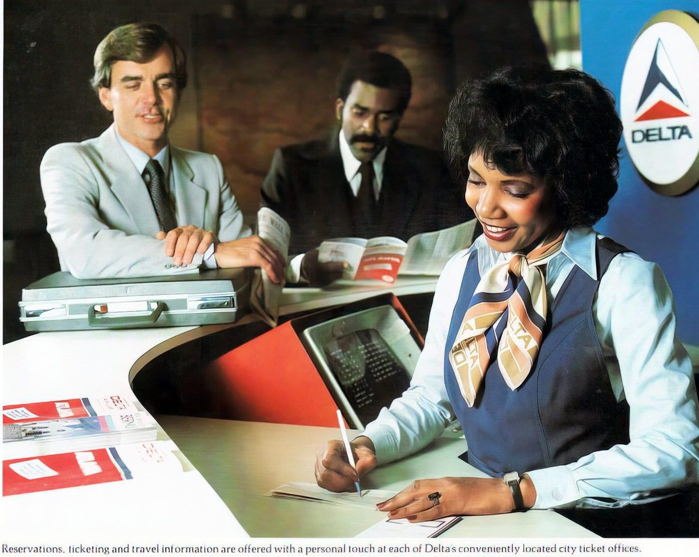 Vintage Delta ticket counter (1981)