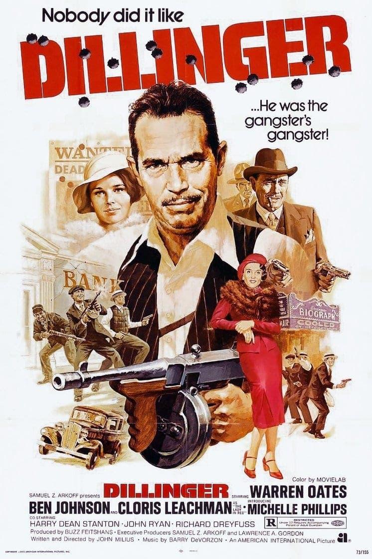 Vintage Dillinger movie poster 1973