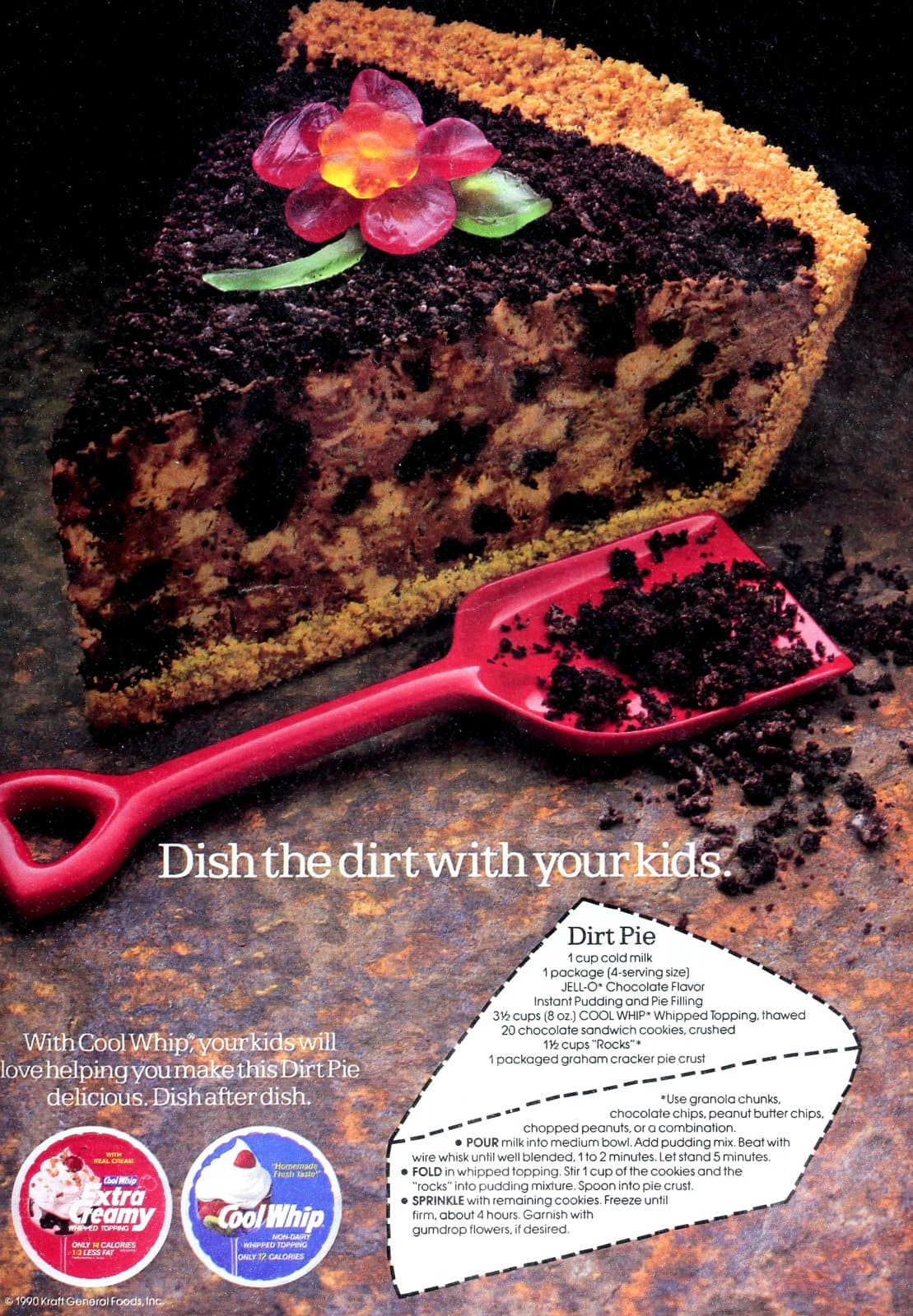 Vintage Dirt Pie recipe from 1990