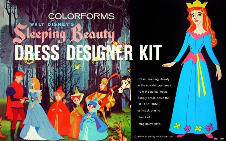 Vintage Disney Sleeping Beauty dress designer kit from 1959