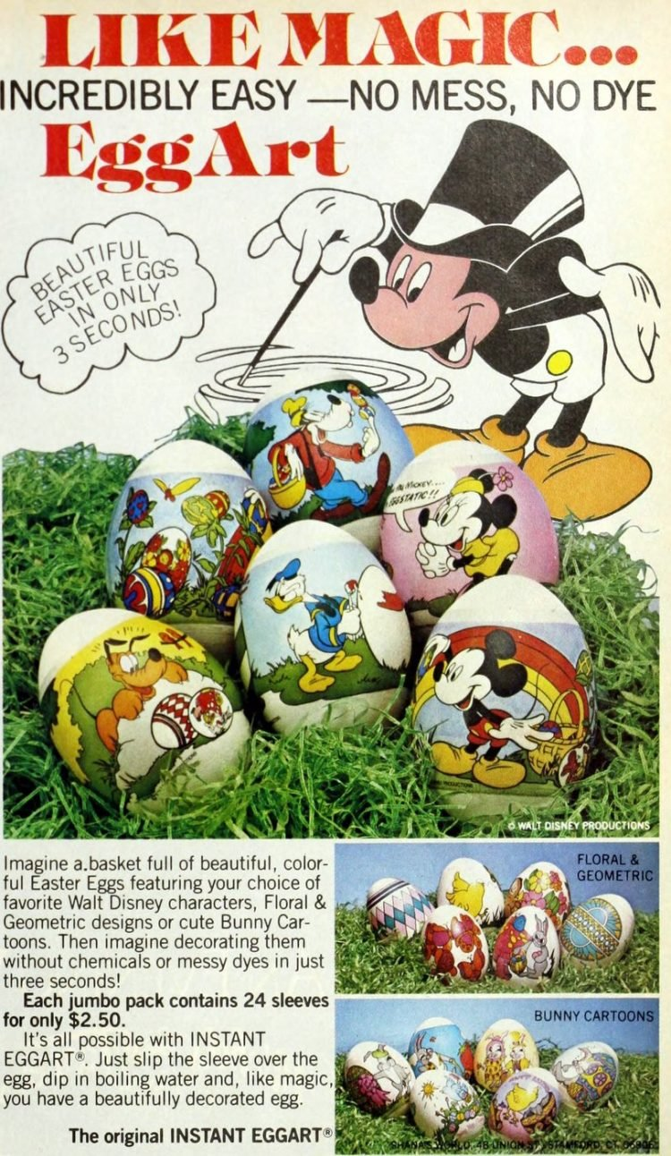 Vintage Disney egg art kit with Mickey from 1984