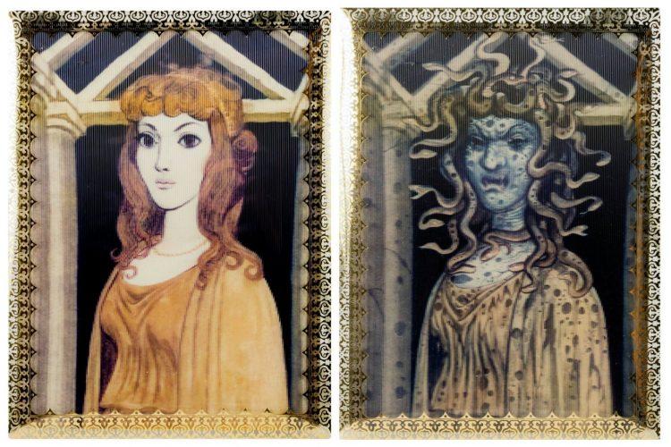 Vintage Disneyland lenticular changing portraits - Haunted Mansion 1999 - Medusa