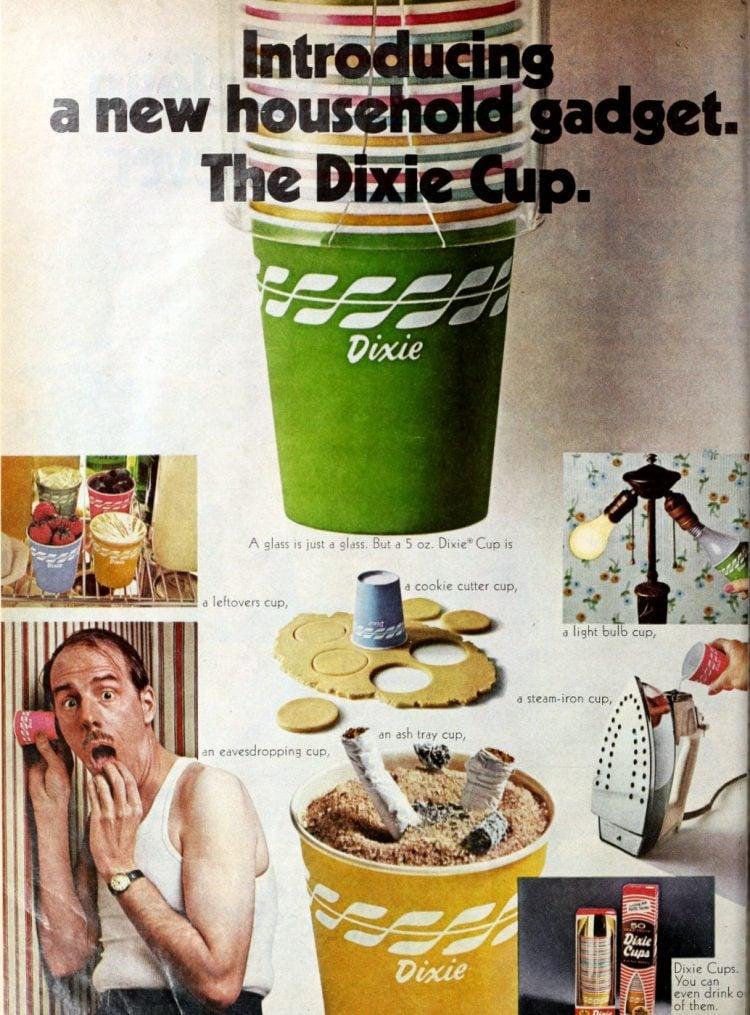 Vintage Dixie cups (1969)
