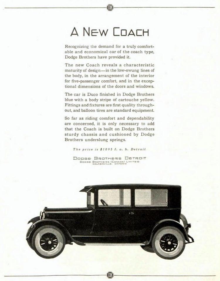 Vintage Dodge Brothers cars - 1925