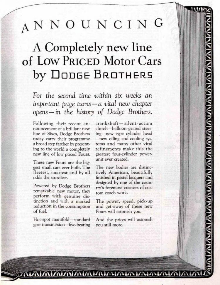 Vintage Dodge Brothers cars - 1927 (1)