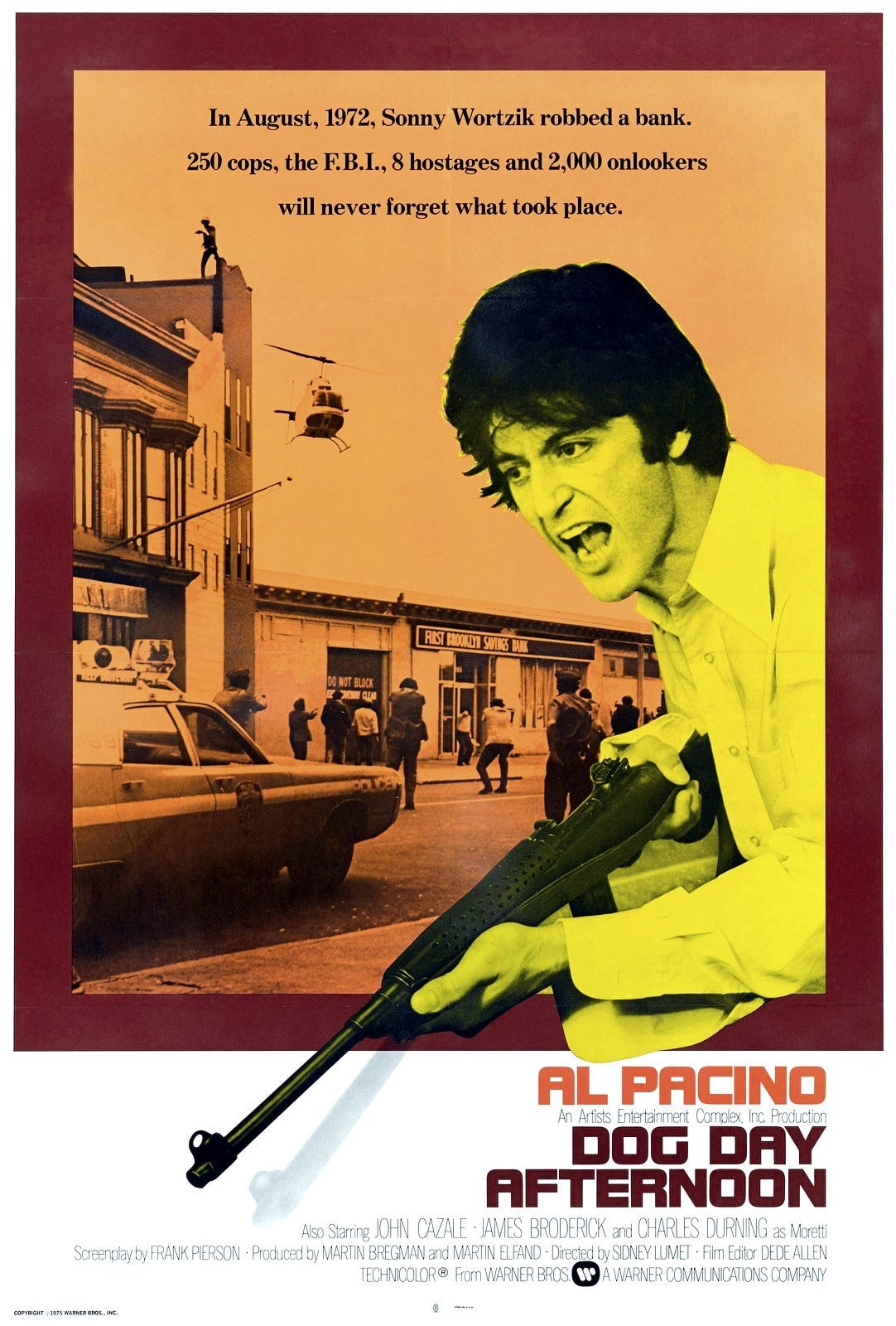 Vintage Dog Day Afternoon movie poster - Al Pacino (1975)
