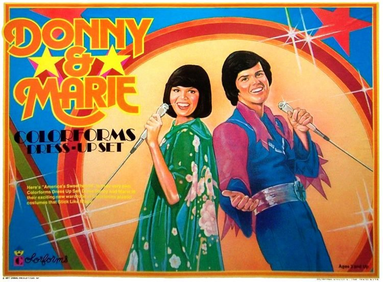 Vintage Donny and Marie Colorforms set