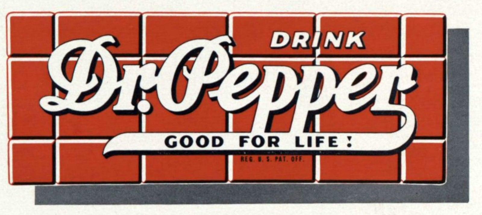 Vintage Dr Pepper sign from 1949