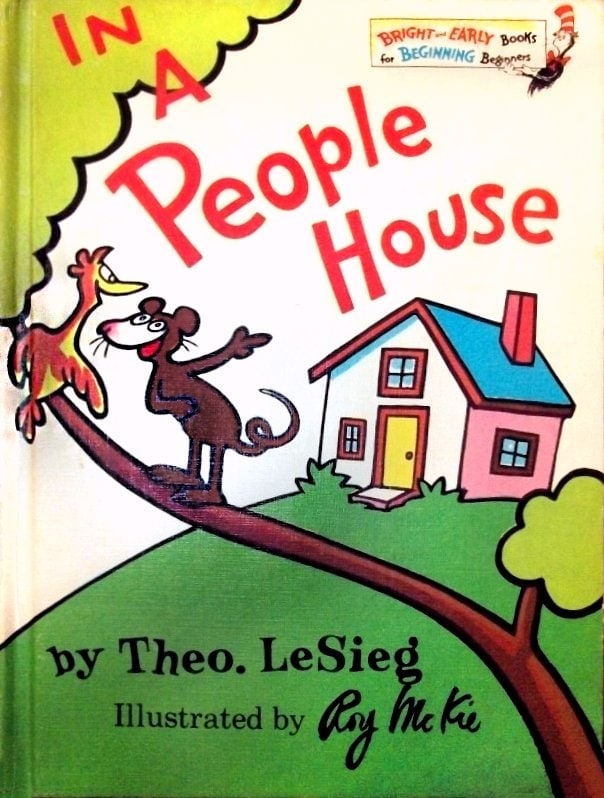 Vintage Dr Seuss book In a People House