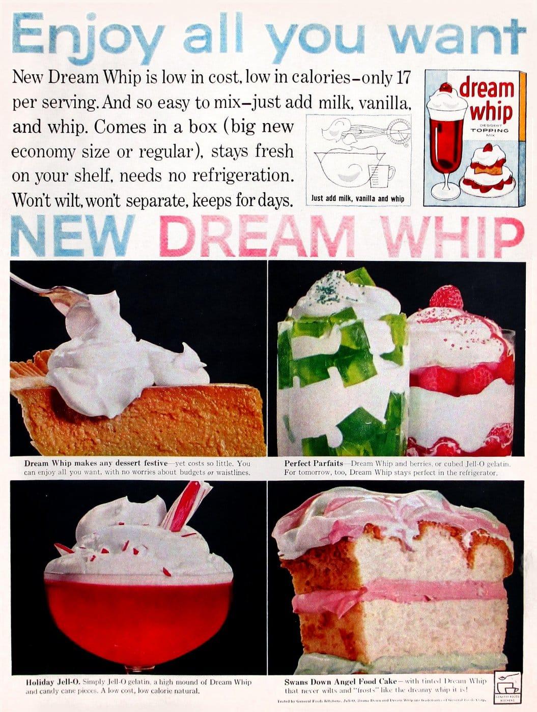 Vintage Dream Whip dessert topping (1959)