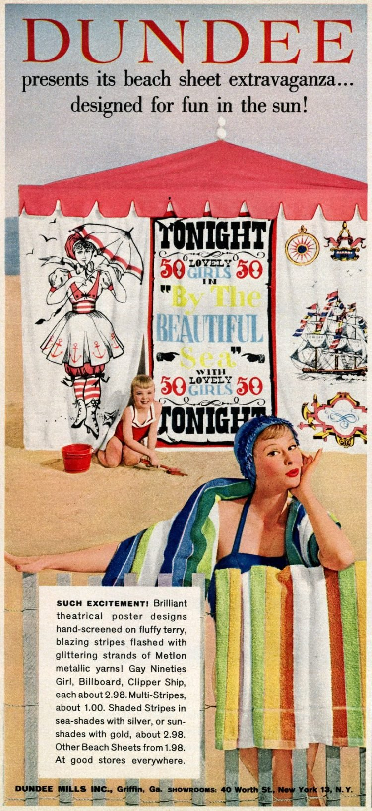 Vintage Dundee towels from 1958