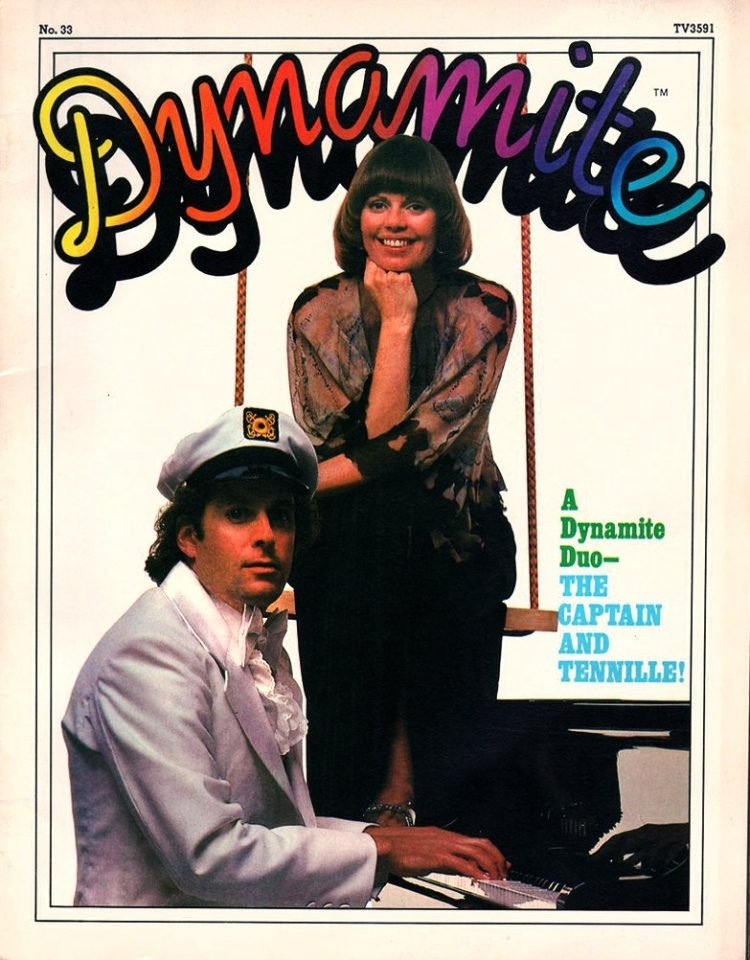Vintage Dynamite magazine cover - Captain and Tennille