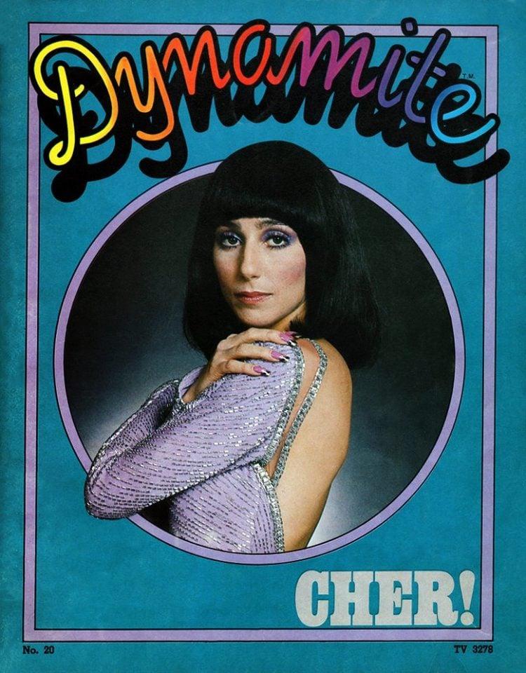 Vintage Dynamite magazine cover - Cher