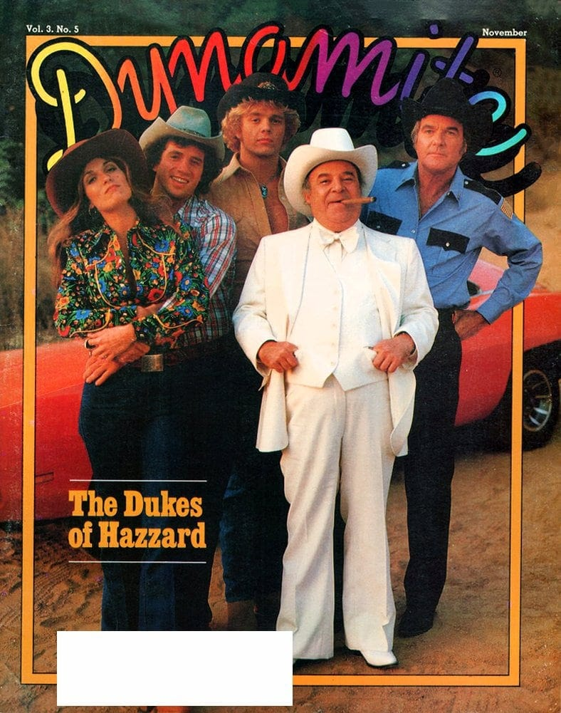 Vintage Dynamite magazine cover - Dukes of Hazzard TV show