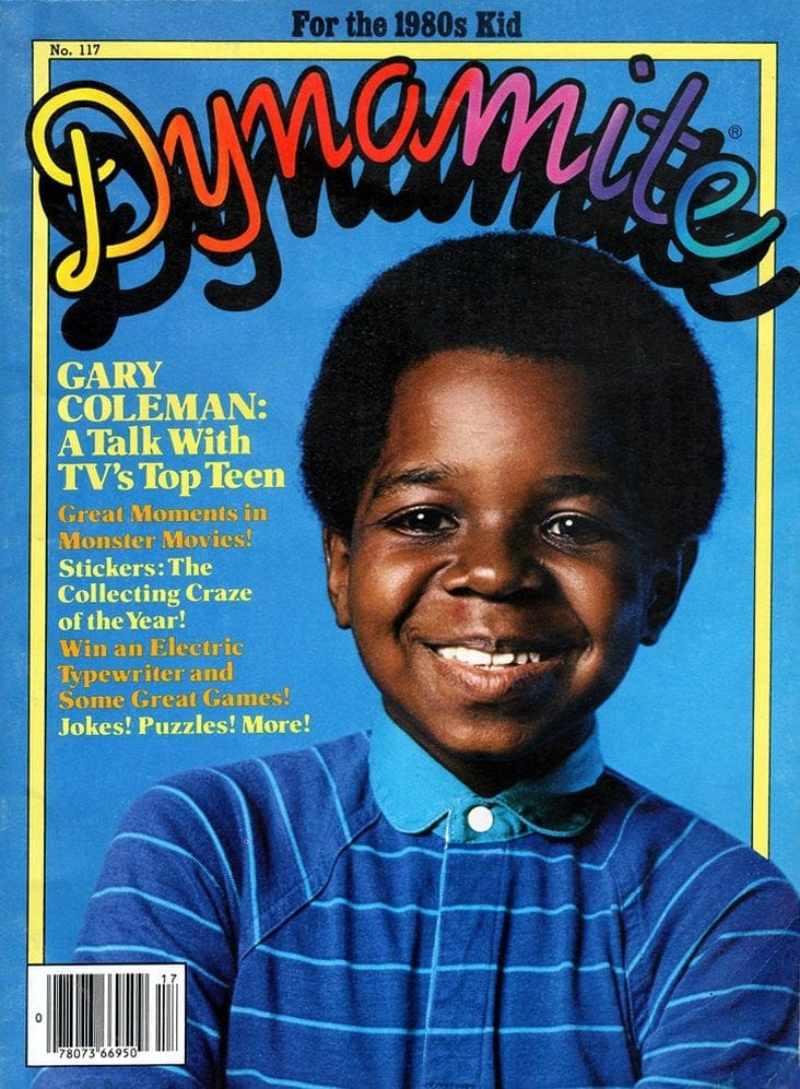 Vintage Dynamite magazine cover - Gary Coleman TV star